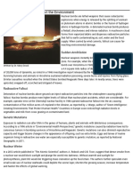 how nuclear bombs affect the environment   education - seattle pi