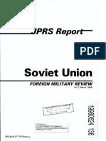SovietUnion ForeignMilitaryReview 3-1988