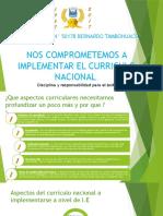 Compromisos Para Implementar La Currila Nacional.