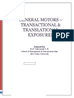 General Motors Transactional Translational Exposures