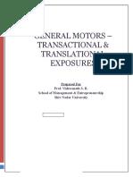 General Motors Transactional Translational Exposures