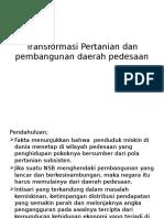 Transformasi Pertanian Dan Pembangunan Daerah Pedesaan