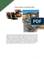 Transformaciones mineras en América Latina