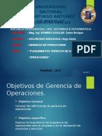 Gerencia de Operaciones - Introduccion