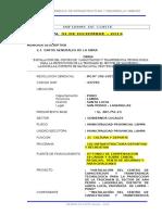 Memoria Descriptiva, Observaciones y Programacion Truchas 20116