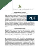 INFORME DE GESTIÓN SOCIAL Y ECONÓMICO 2016