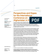 Interaction Issue Brief -- July 20 Kabul Conference