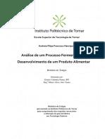Análise de Um Processo Fermentativo Para Desenvolvimento de Um Produto Alimentar
