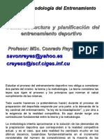 Estructura y Planificacion Del Entrenamiento Deportivo