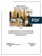 Comparative Analysis Betwee Fast Restaurats & Five Star Hotels Restaurants (1)
