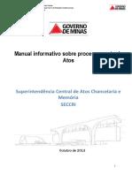 Manual Informativo Sobre Processamento de Atos