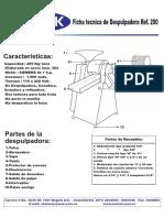 Instrucciones Despulpadora 200