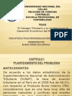 TESIS (El Desagio Tributario y Su Incidencia en El Desarrollo Económico Del País 2010-2015)