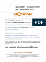 Online Registration Malaysia Open Source Conference 2017