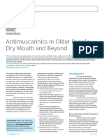 Dent Update 2016. Antimuscarinics in Older People - Dry Mouth and Beyond