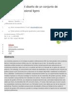 La Mecánica y El Diseño de Un Conjunto de Grafeno Tridimensional Ligero
