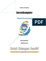 Modul Kursus Ms. Office Word 2007