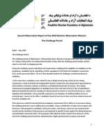 FEFA Challenge Period Observation Report July 2010