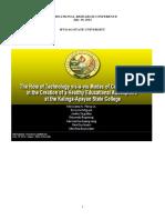 Technology Vis-A-Vis Modes of Communication at KASC - M. PAROY JR