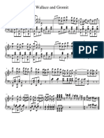 Wallace & Gromit piano sheet
