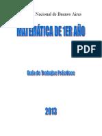 Guía de Trabajos prácticos-Matemáticas (1er año)