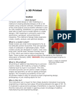 how to make a 3d printed model rocket