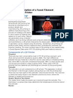 technical description of a fused filament fabrication 3d printer final
