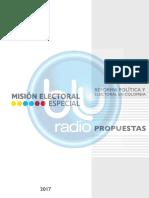 El informe completo de la MEE al Gobierno para la reforma al sistema electoral