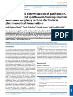 Electrochemical determination of gatifloxacin, moxifloxacin and sparfloxacin fluoroquinolonic antibiotics on glassy carbon electrode in pharmaceutical formulations
