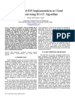 Anomaly-based IDS Implementation in Cloud Environment Using BOAT Algorithm