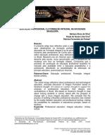 Educação Profissional e a Formação Integral Na Sociedade Brasileira