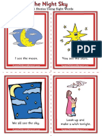 Sight Words Stories the Night Sky