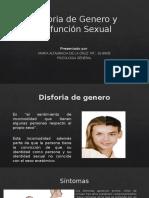Disforia de Genero y Disfunción Sexual
