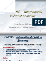 POSC 2200 - Development and Human Security