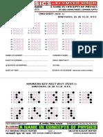 Answers Keys Neet 2017 Test Series Test 1