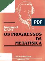 KANT, Immanuel. Os progressos da metafísica.pdf