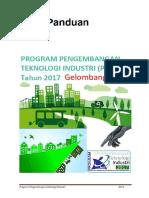 Buku Panduan Program Pengembangan Teknologi Industri 2017rev6