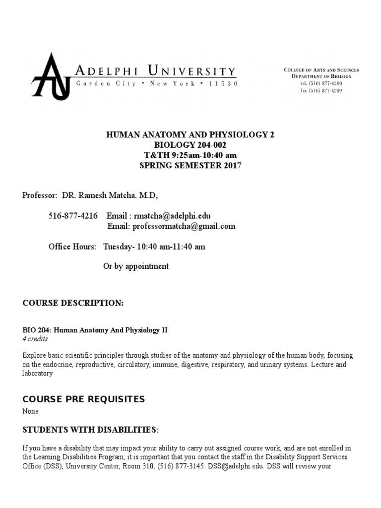 204-02 Human Anatomy Physiology II -LECT (9) | Human Body | Academic ...