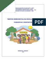BORGES, Benedito. Gestão Democrática Da Escola Pública