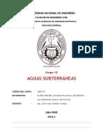 Grupo 10 Aguas Subterraneas