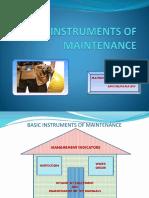 3 Basic Instruments of Maintenance