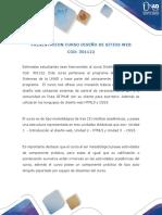 Presentación Del Curso Diseños de Sitios Web Cod. 301122