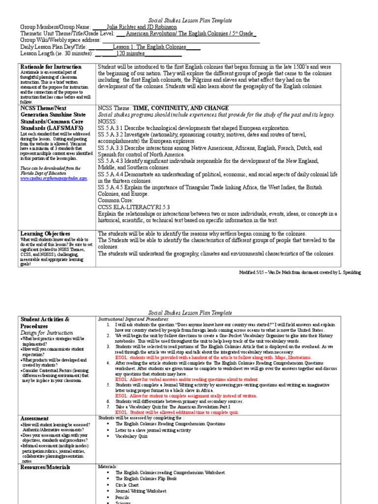 day 1 lesson | Lesson Plan | Educational Assessment