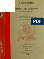 Researches Into Chinese Superstitions (Vol 1) - Henry Dore