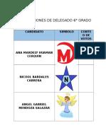 Elecciones de Delegado 6