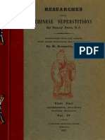 Researches Into Chinese Superstitions (Vol 4) - Henry Dore