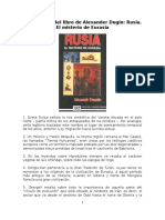 Fragmentos Del Libro de Alexander Dugin Rusia El Misterio de Eurasia