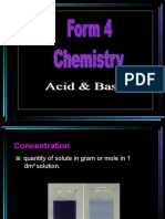 7.3 (a) Meaning of Concentration & Molarity