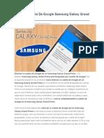 Eliminar Cuenta de Google Samsung Galaxy Grand Prime