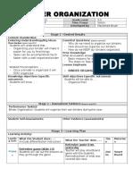 binder organization lesson plan